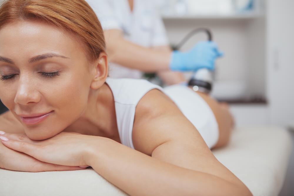 Woman having RF treatment