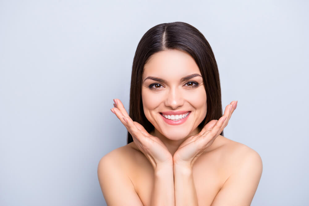 Woman with healthy skin after eMatrix