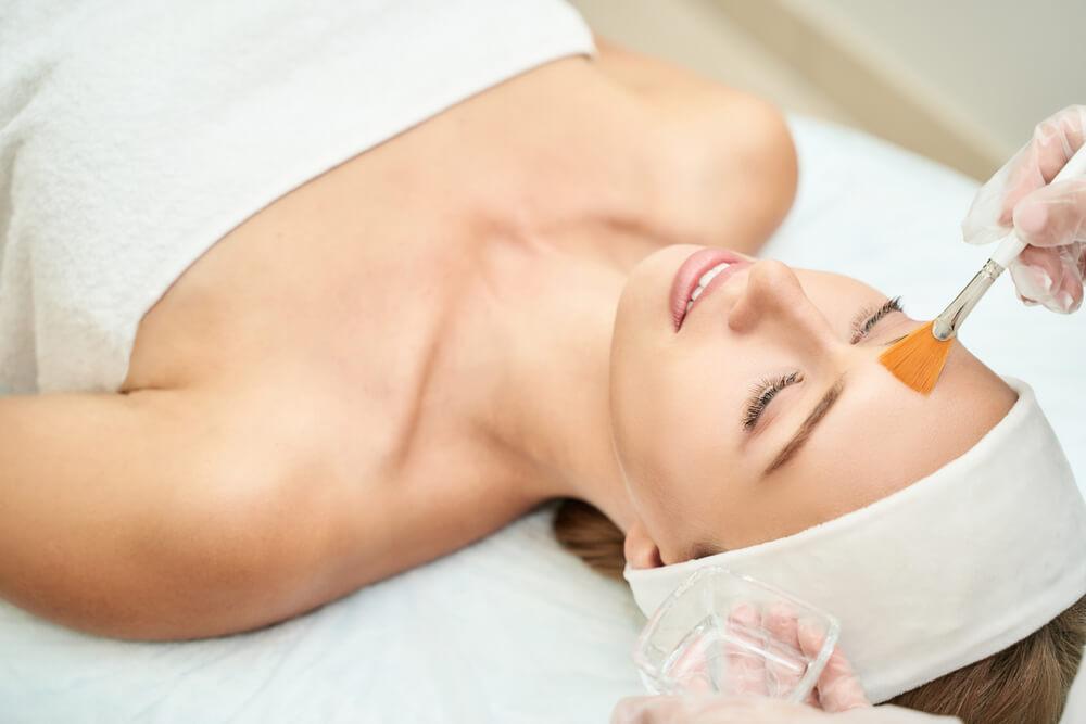 Woman having Perfect Derma Peel
