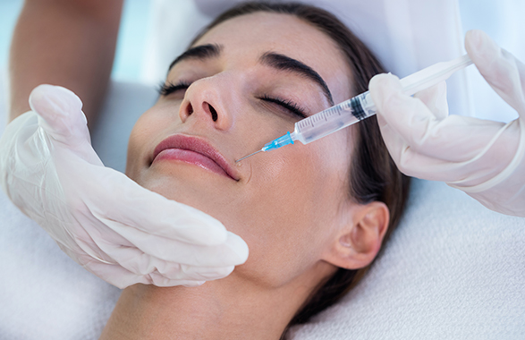 BOTOX treatment on woman