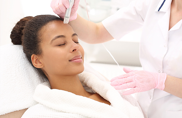 microneedling treatment on second woman