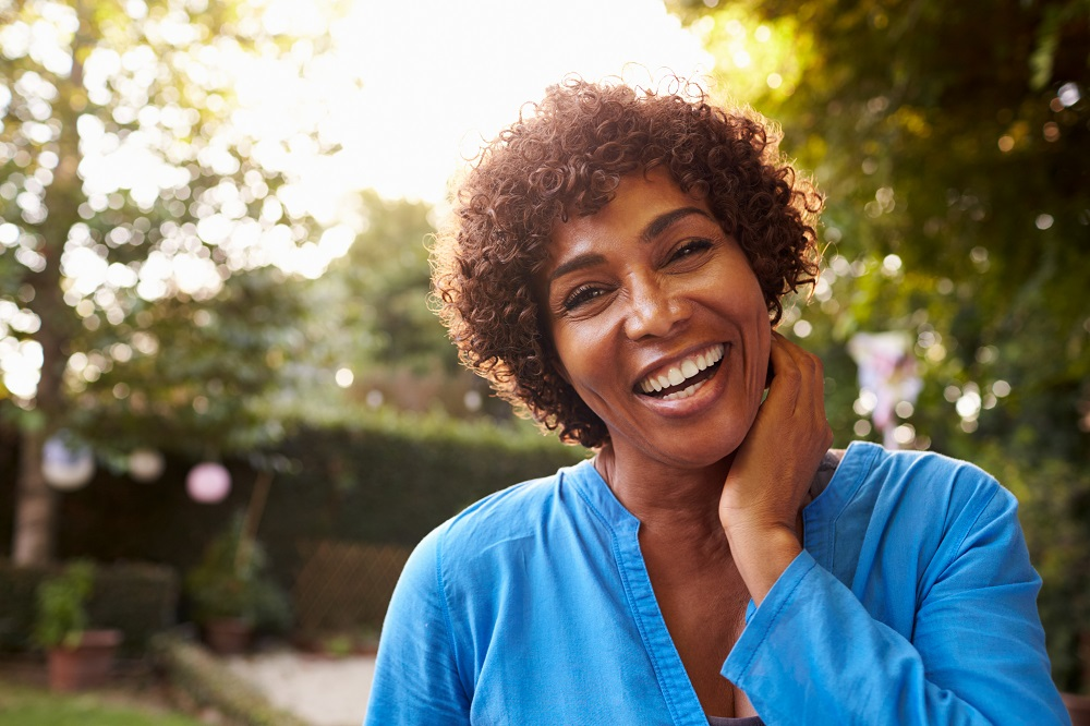 smiling african american woman in her 60s